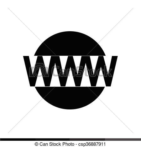 450x470 Www Sign Icon, World Wide Web Symbol Icon Illustration... Vector