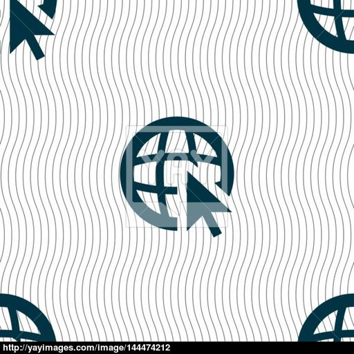 512x512 Internet Sign Icon. World Wide Web Symbol. Cursor Pointer