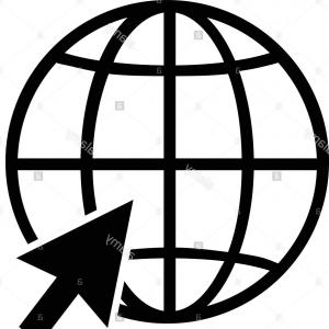 300x300 Black World Wide Web Vector Icon Gm Geekchicpro