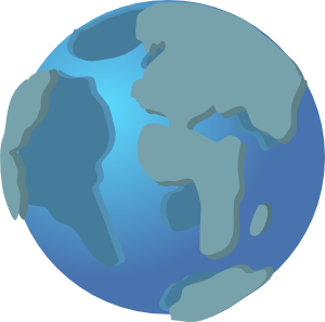 300x297 World Wide Web Globe Earth Icon Clip Art Free Vector 4vector