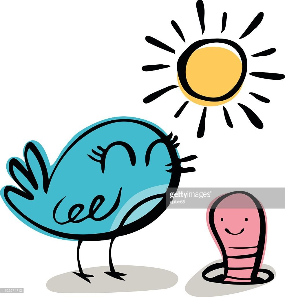 984x1024 Early Bird Gets The Worm Vector Id492574712 Clipart