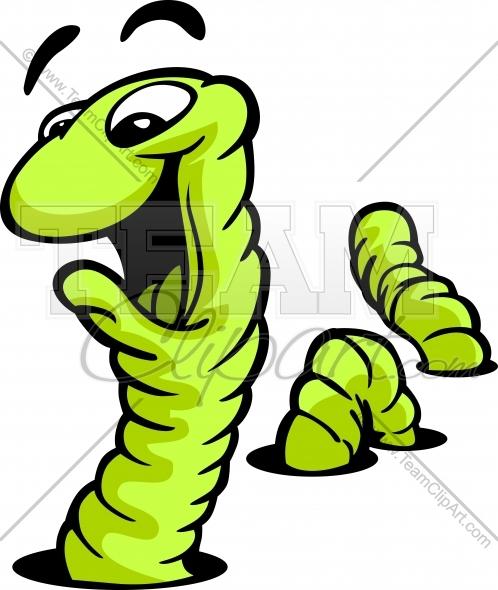 498x590 Happy Cartoon Worm Vector Illustration