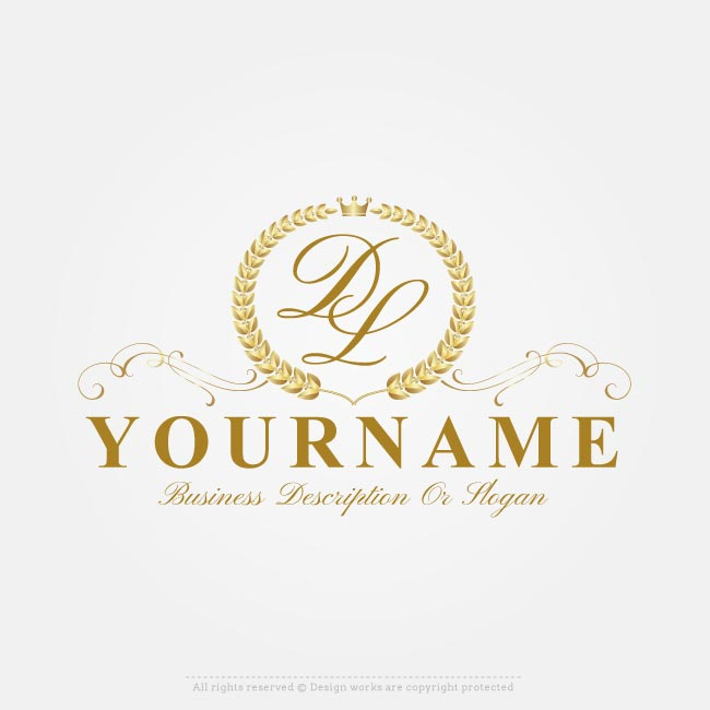 650x650 Free Vector Logo Maker Online Royal Laurel Wreath Logo Creator