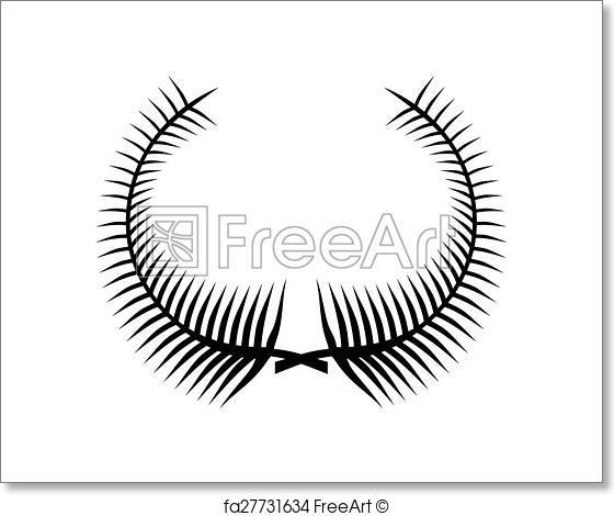 560x470 Free Art Print Of Laurel Wreath Vector Icon Freeart Fa27731634