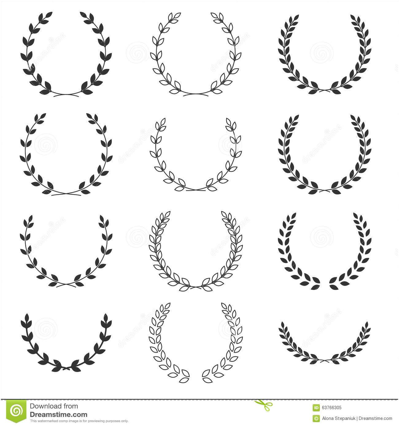 1300x1390 Laurel Wreath Vector Free