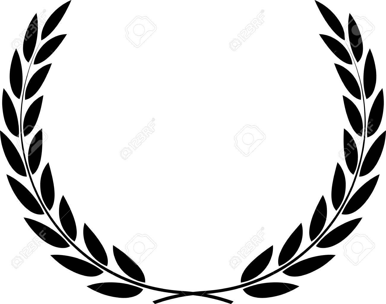 1300x1025 Olive Wreath Vector Download