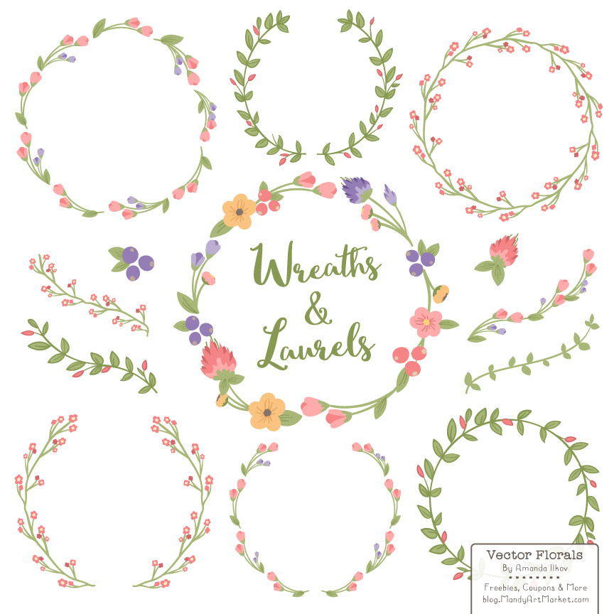 Wreath Vector Free Download