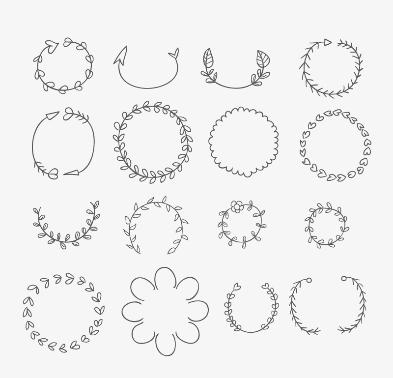 800x769 Hand Drawn Wreath Vector Free Download Ai Files