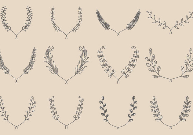 632x443 Hand Made Wreath Vectors Free Vector Download 347627 Cannypic
