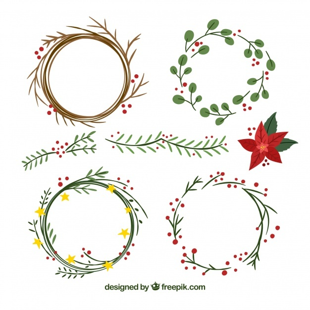 626x626 Christmas Wreath Vectors, Photos And Psd Files Free Download