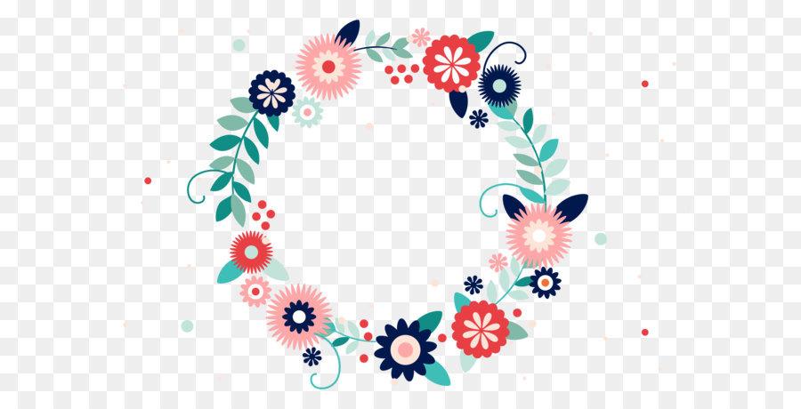 900x460 Typography Flower Wreath