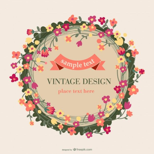 626x626 Flower Wreath Vectors, Photos And Psd Files Free Download