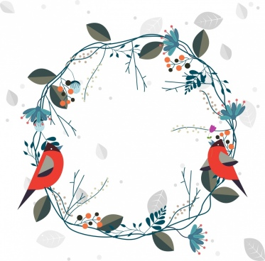 373x368 Flower Wreath Vector Free Vector Download (10,773 Free Vector) For