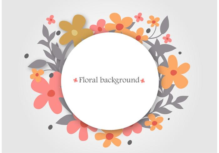 700x490 Floral Wreath Vector Background