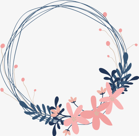 448x438 Fresh Wreath Vector, Wreath Vector, Pink, Illustration Png And