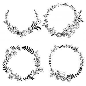 300x300 Hand Drawn Wreath Vector Pack Ii Shopatcloth