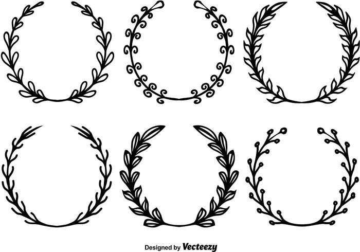 700x490 Hand Drawn Wreath Vectors