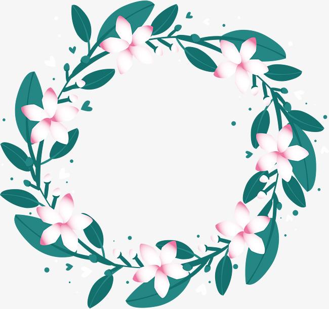 650x611 Little Fresh White Flower Wreath, Flower Vector, Wreath Vector