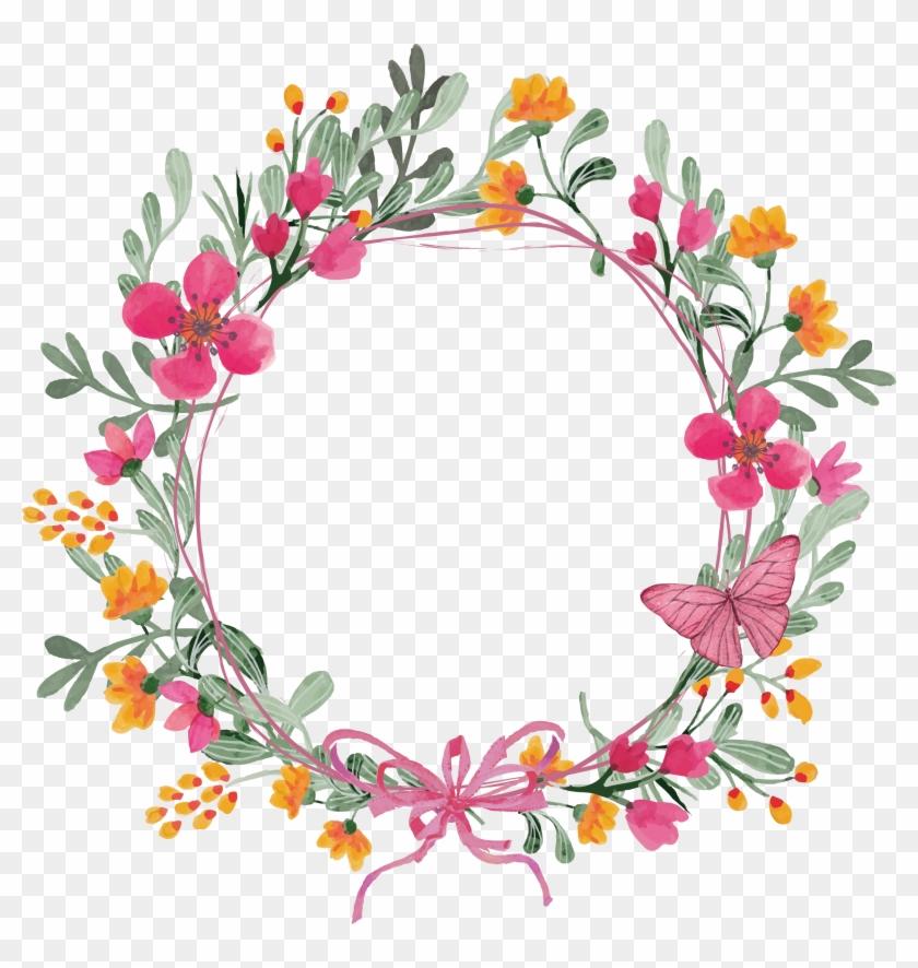 840x886 Pink Butterfly Wreath