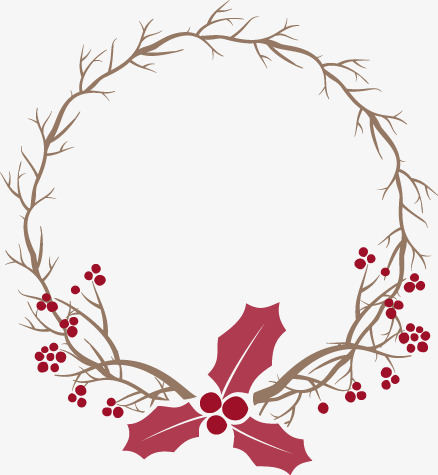 438x475 Christmas Wreath Vector Material, Branches, Christmas, Red Png And