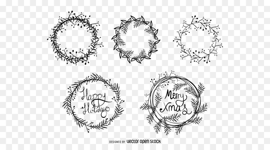 900x500 Download Christmas Wreath Vector Material