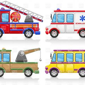 300x300 Service Vehicles Icons Ambulance Minibus Fire Escape And Wrecker