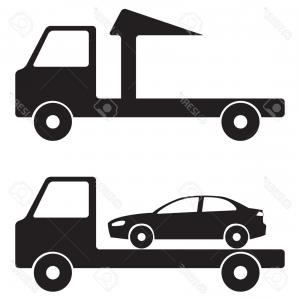 300x300 Tow Truck Wrecker Illustration Icon Sign Lazttweet
