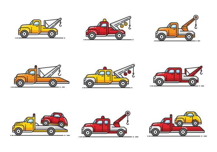 700x490 Towing Icons Vector