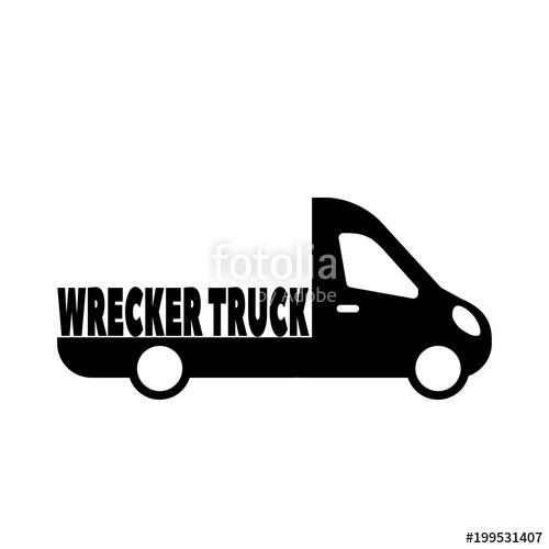 500x500 Wrecker Truck, Evacuator Service And Car Towing Truck Modern Flat