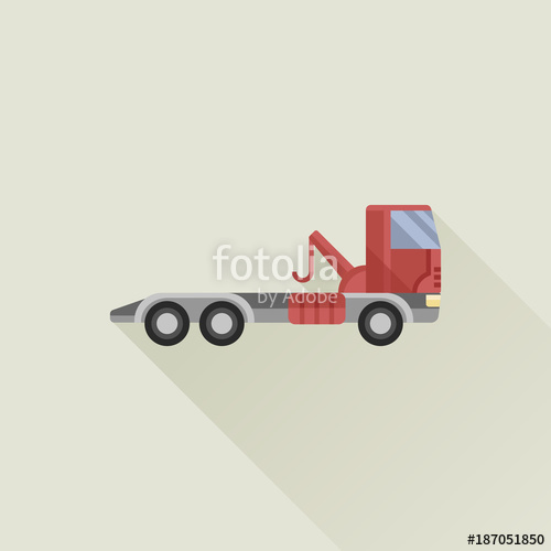 500x500 Wrecker Vector Icon Flat Style Stock Image And Royalty Free