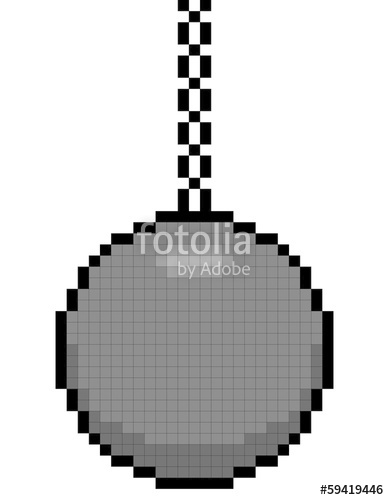 389x500 8 Bit Pixel Art Wrecking Ball On A Chain Stock Image And Royalty
