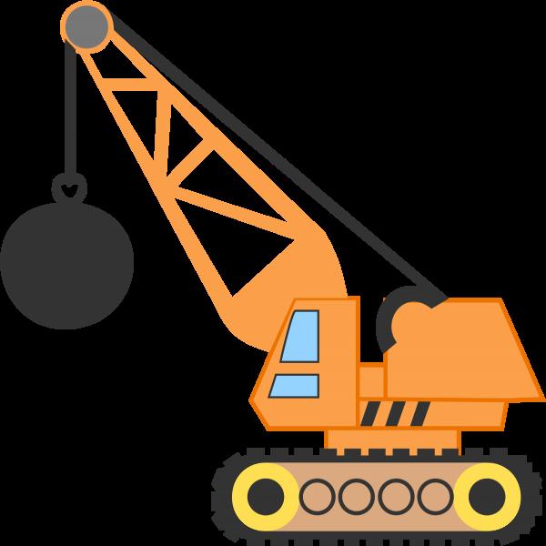 600x600 Wrecking Ball Crane Clip Art