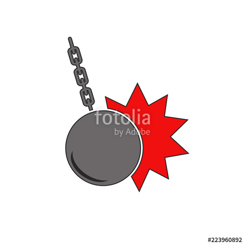 500x500 Wrecking Ball Symbol Stock Image And Royalty Free Vector Files On