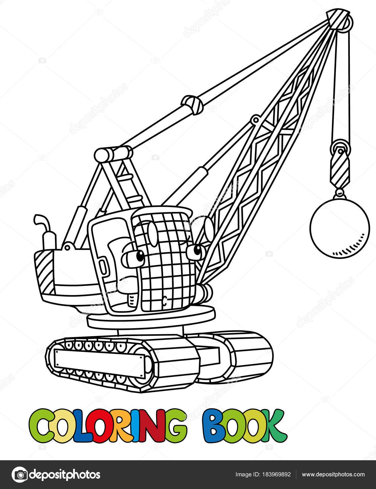 1306x1700 Coloring Book Eyes New Funny Wrecking Ball Truck With Eyes