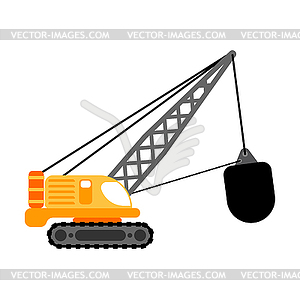 300x299 Crane With Wrecking Ball . Construction Machinery