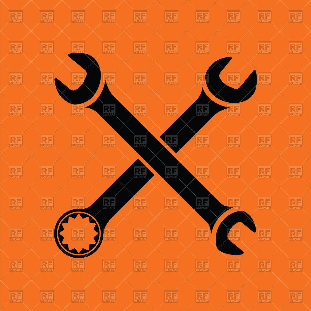 1200x1200 Crossed Wrench Icon Vector Image Vector Artwork Of Signs
