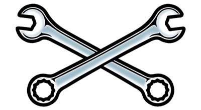 400x220 Crossed Wrenches Clipart