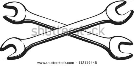 450x224 Crossed Wrenches Clipart