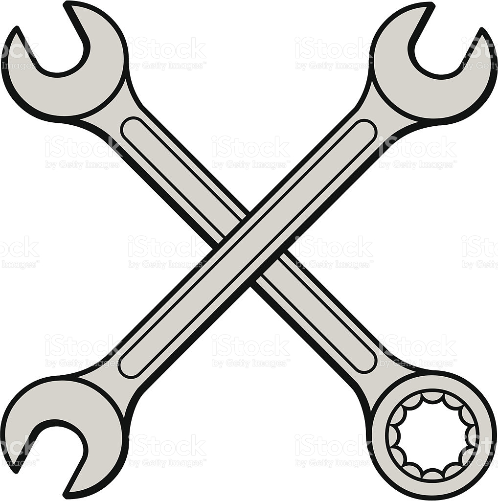 1018x1024 Collection Of Open Wrench Drawing High Quality, Free
