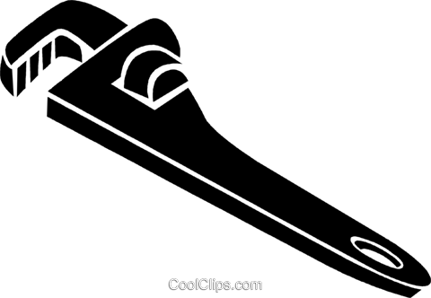 480x332 Pipe Wrench Royalty Free Vector Clip Art Illustration Vc024982