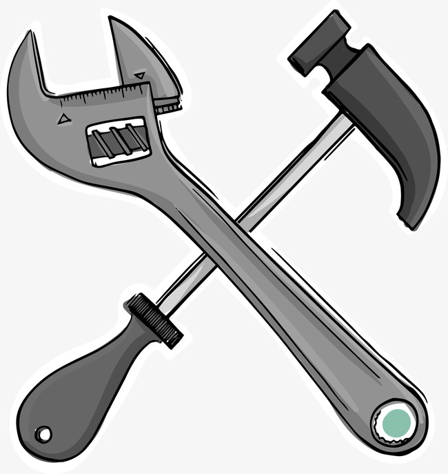 650x687 Cartoon Wrench Hammer, Cartoon Vector, Wrench Vector, Hammer
