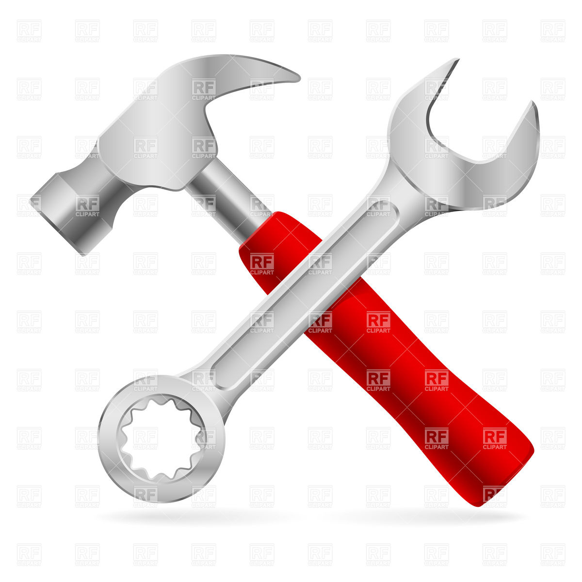 1200x1200 Crossed Hammer And Nut Wrench Vector Image Vector Artwork Of