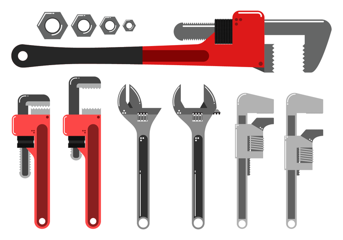 700x490 Free Monkey Wrench Vector