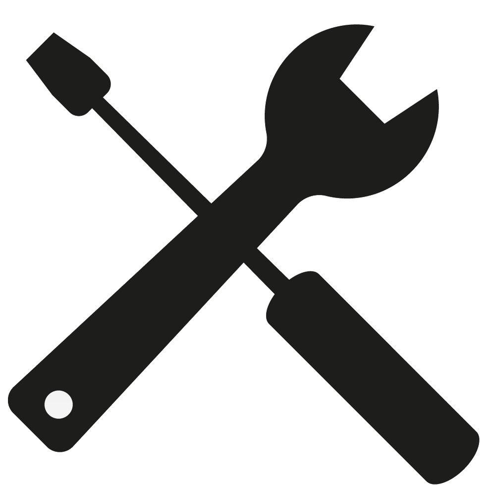 989x979 Black Clipart Wrench