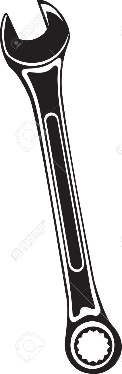 425x1300 Box End Wrench Clipart