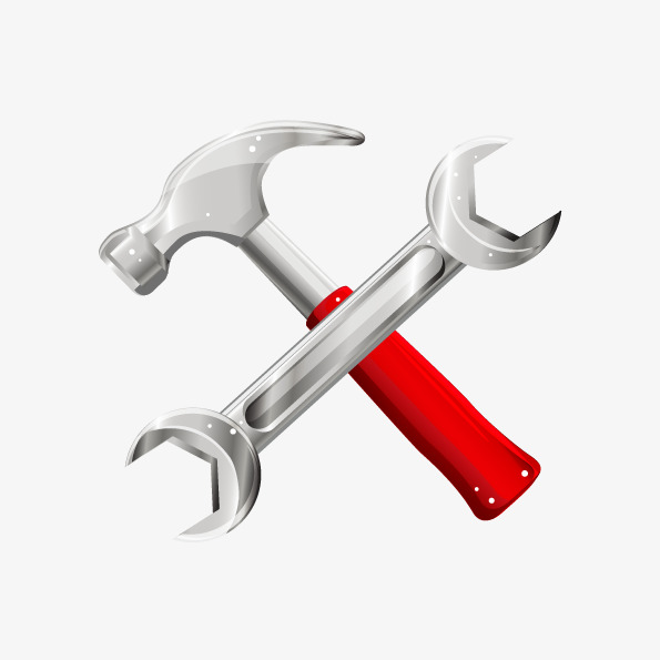 595x595 Vector Wrench Hammer X Shape, Wrench Vector, Hammer Vector, X