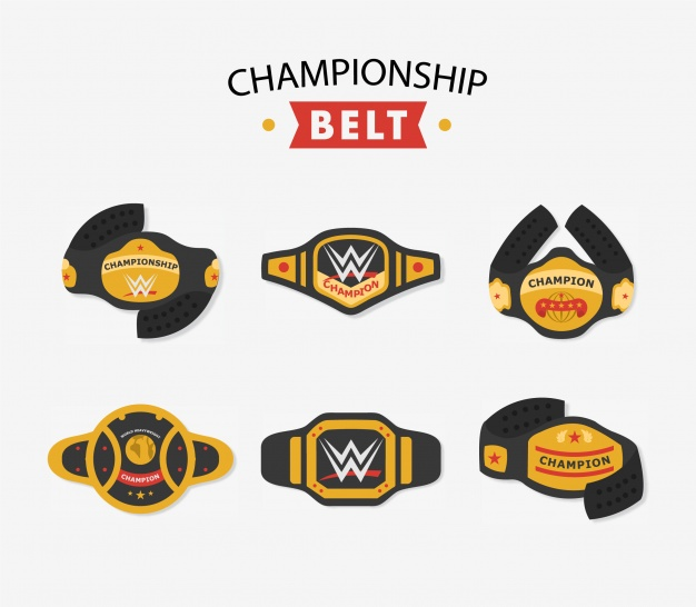 626x546 Championship Belt Collection Vector Free Download