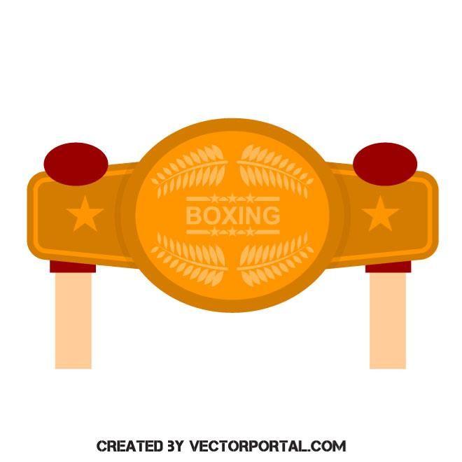 660x660 Boxing Champion Belt Vector Image Sports Free Vectors