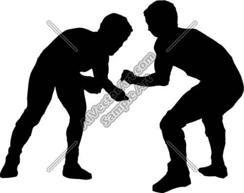 500x395 Wrestling1 Clipart And Vectorart Sports