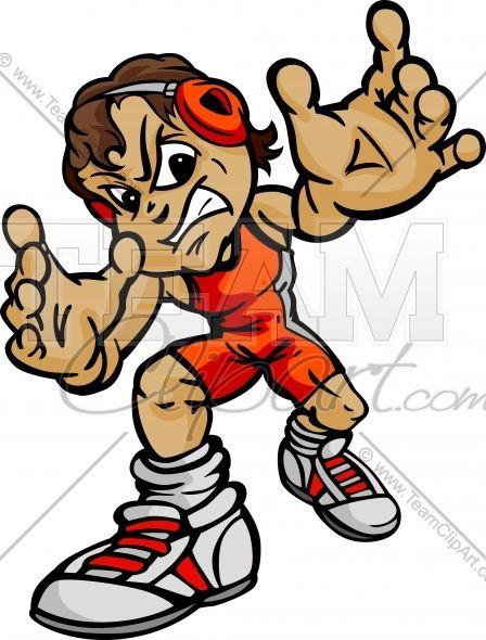 448x590 Wrestling Cartoon Body Boy Wrestler Cartoon Vector Image Team